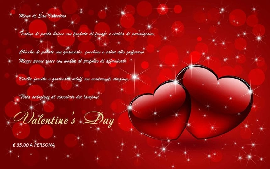 St. Valentine's menu from our Cuisine